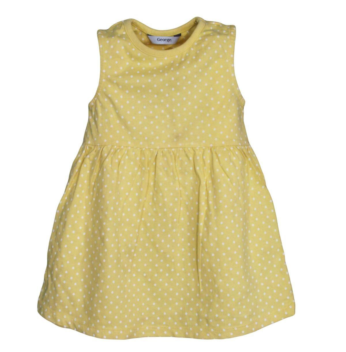 0f22903e539e Sárga pöttyös ruha (1- 1,5 év). Gyártó: George