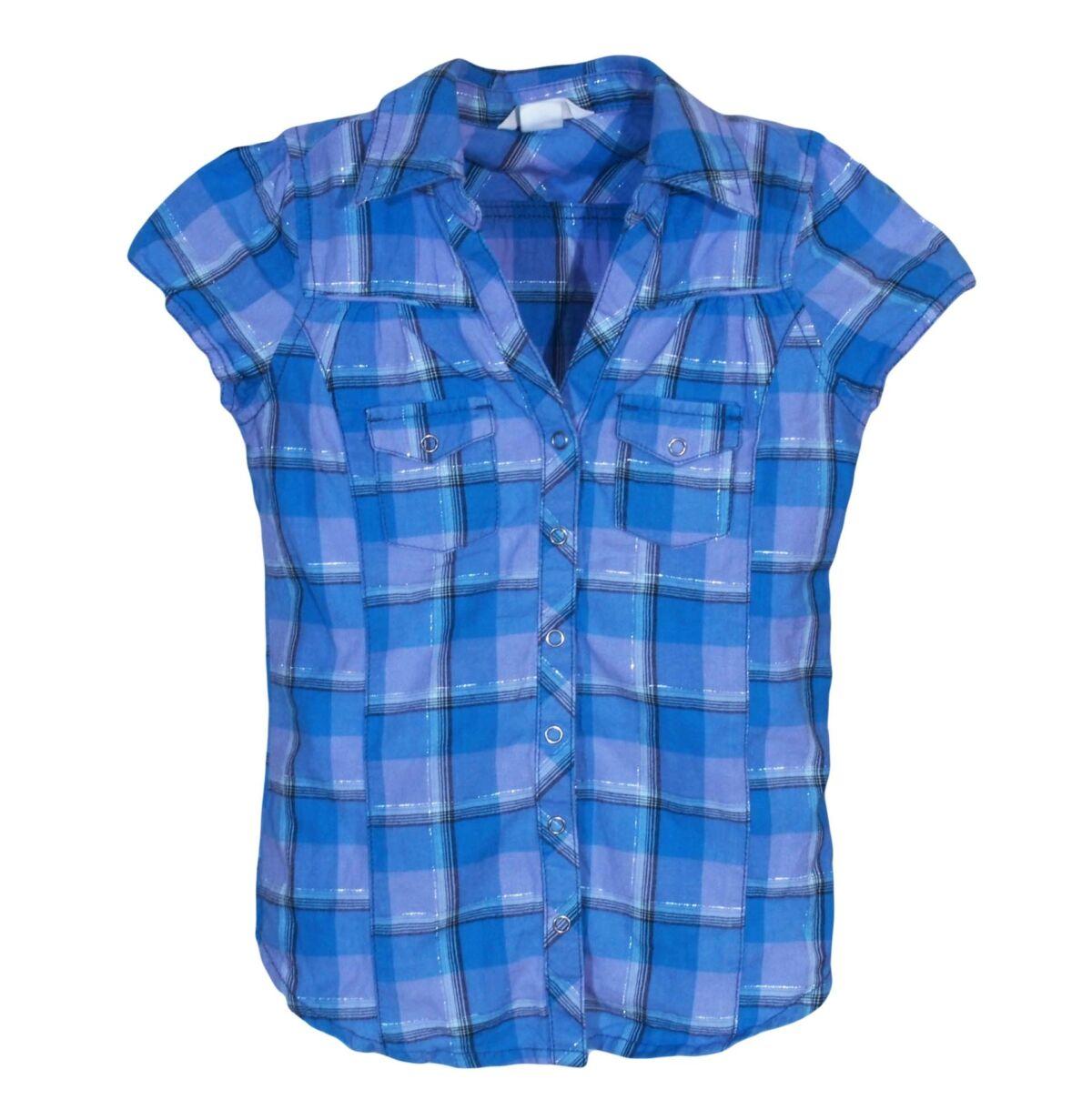 266927a845 Kék kockás blúz (9-10 év). Gyártó: H&M