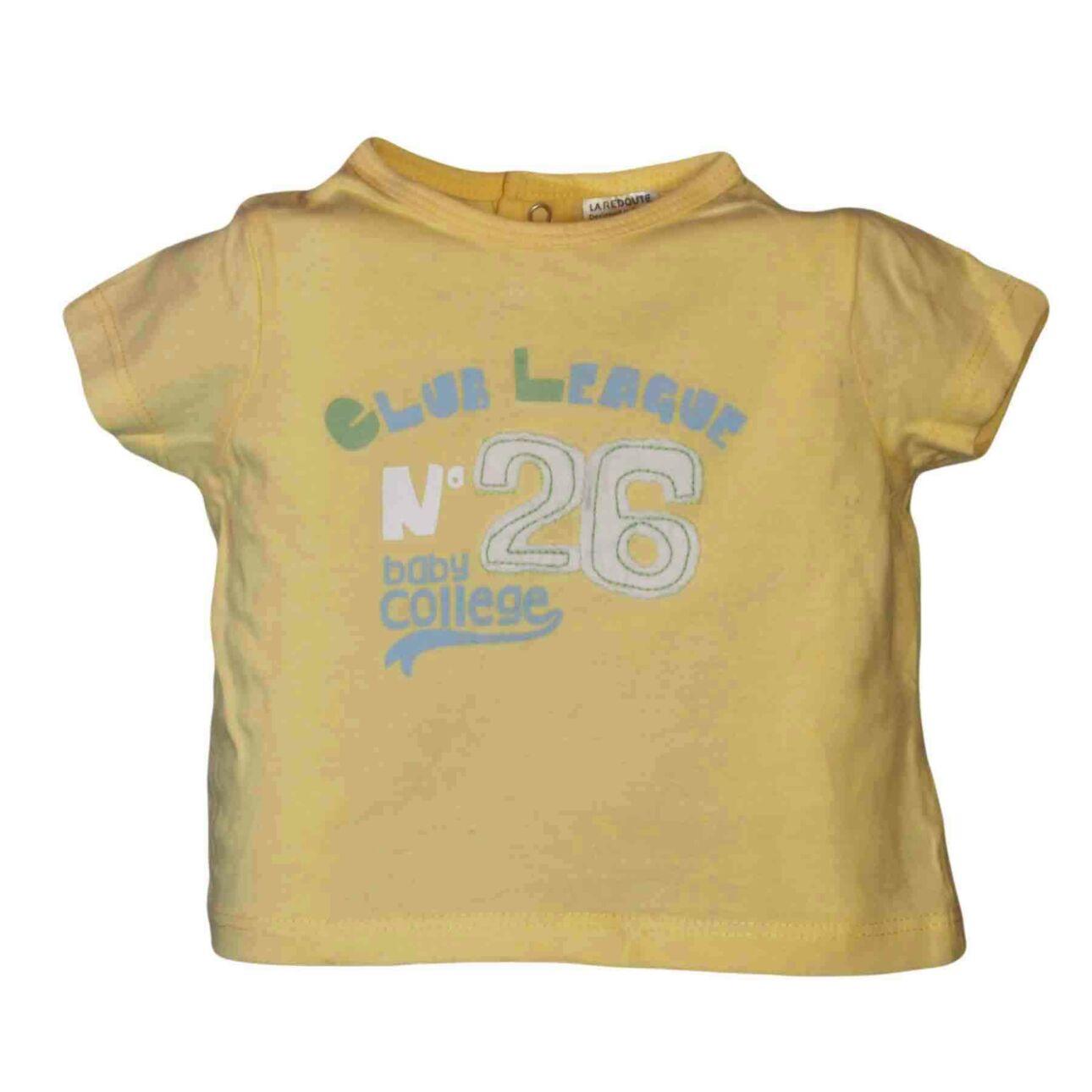 Sárga feliratos póló (62-68)