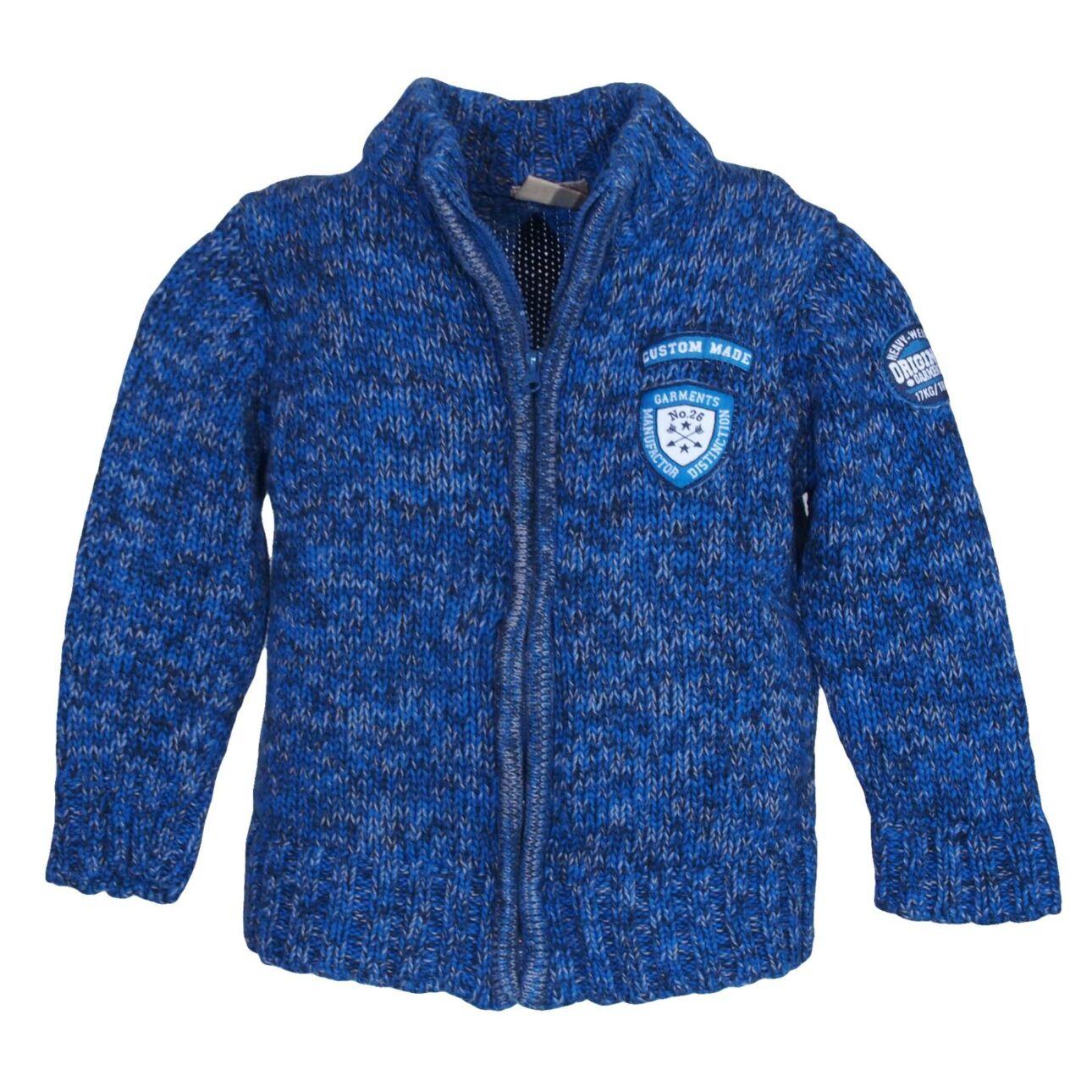 Kék-melír pulcsi (74-80)