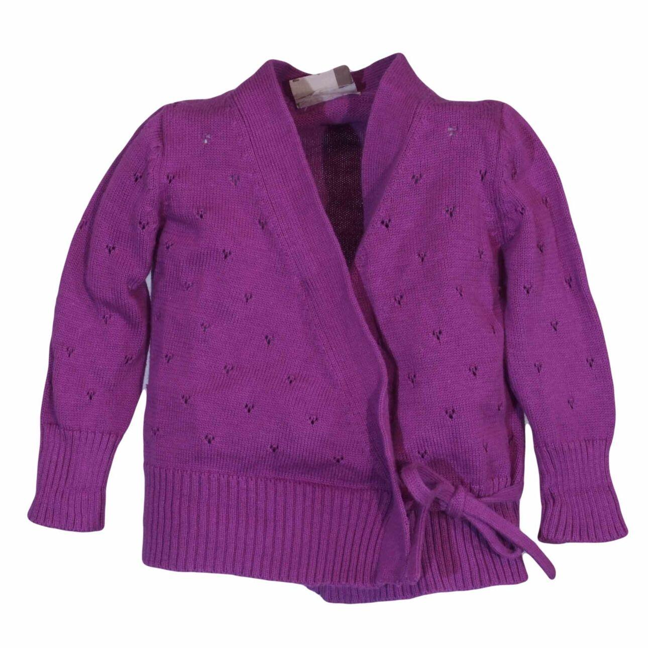 Lila átlapolós kötött pulcsi (50-56)