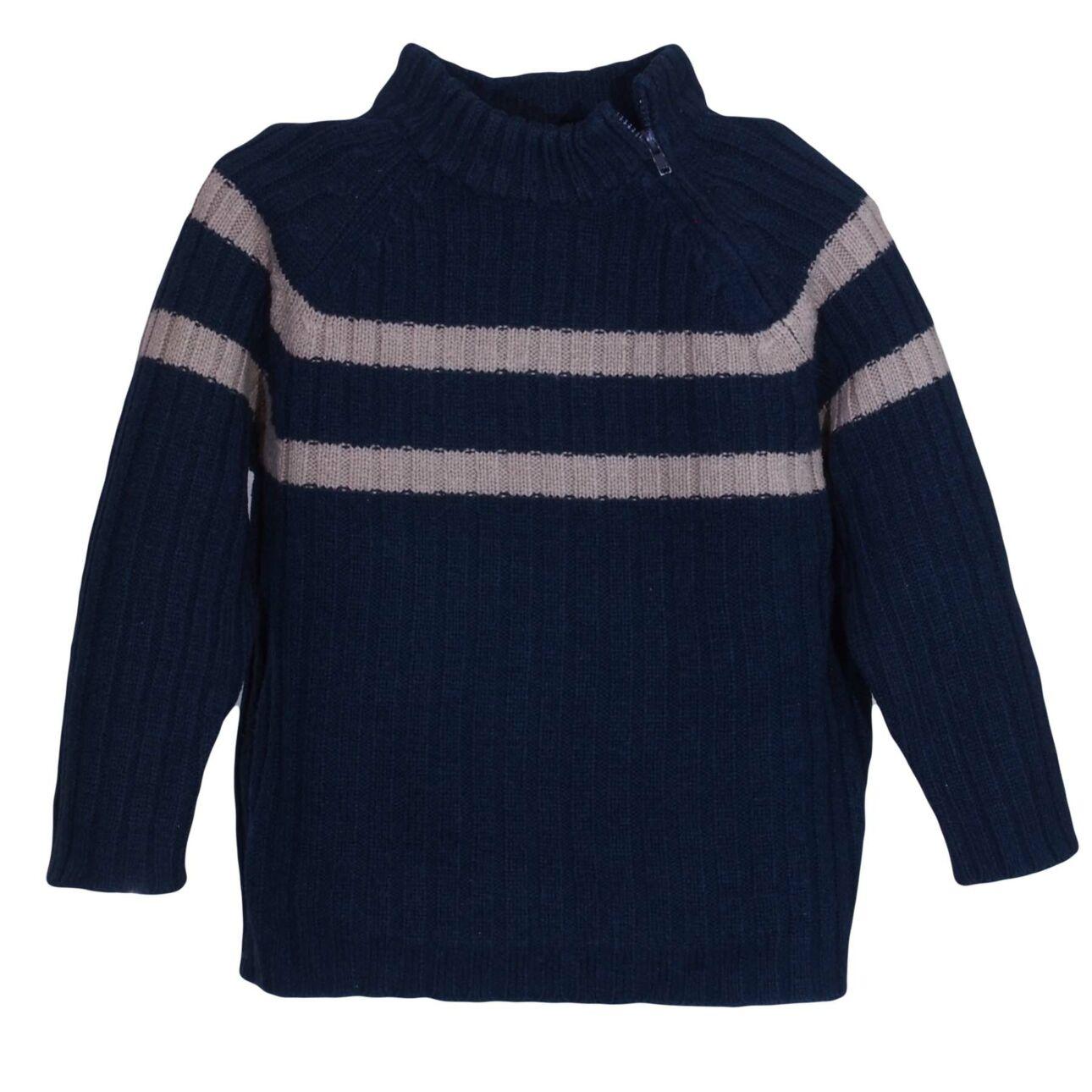 Sötétkék kötött pulcsi (3-4 év)