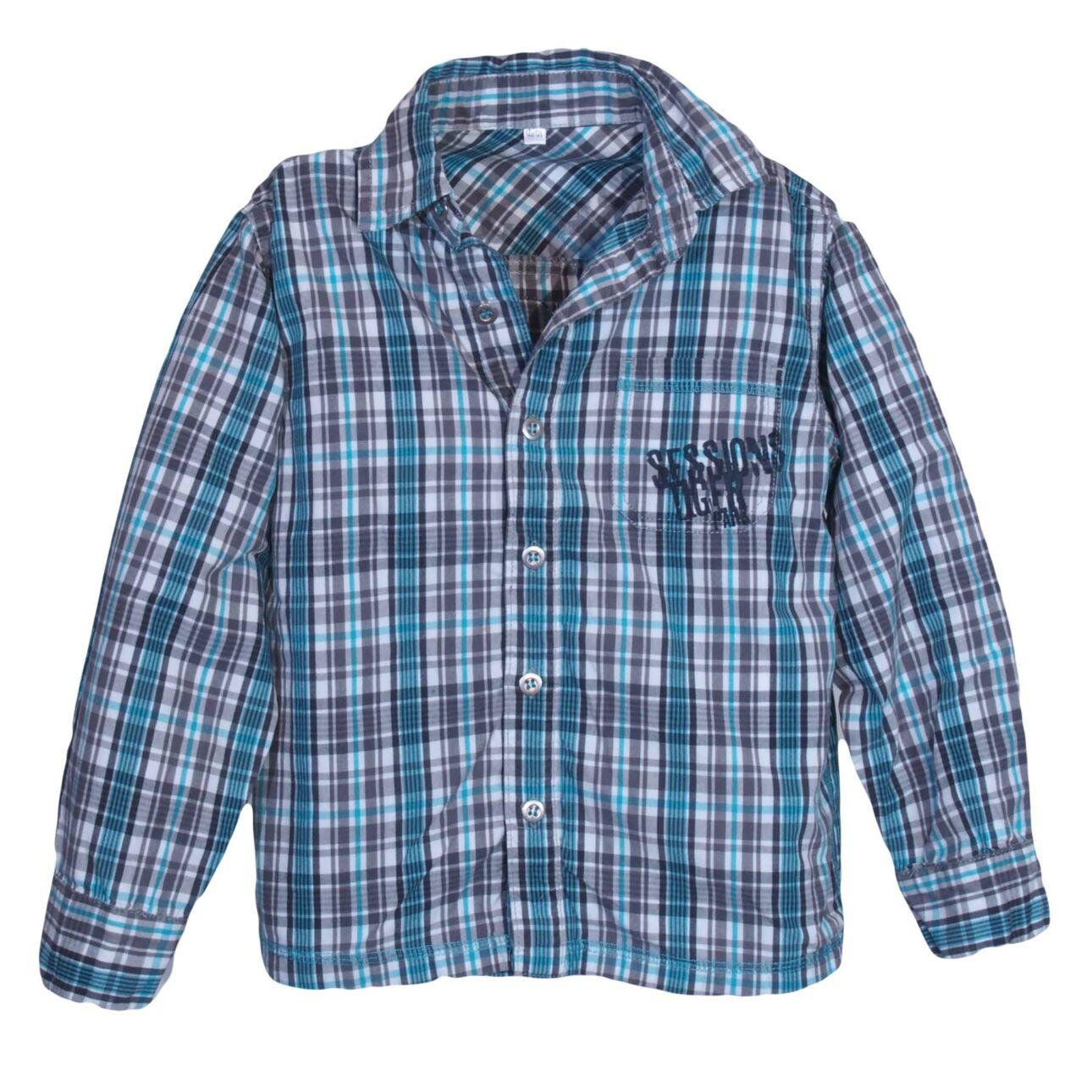 Kék kockás ing (7-8 év)