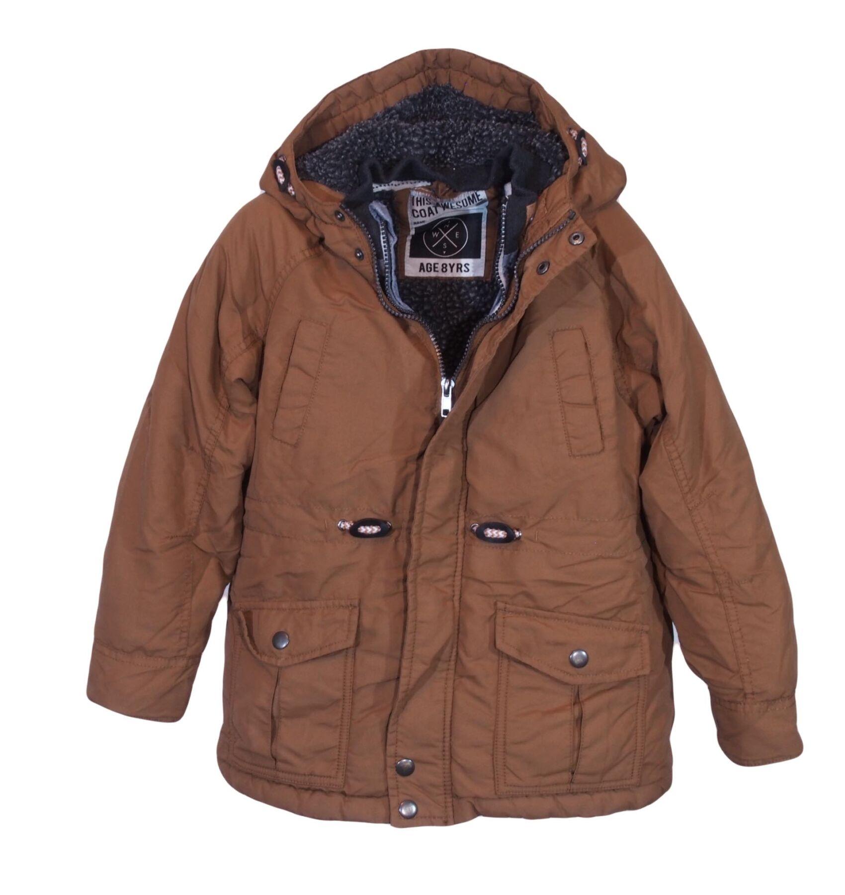 a687c98fc8 Kapuccsino színű télikabát (7-8 év) - Kabátok, mellények
