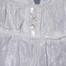 Csillámos anyagú fehér top (14-15 év)