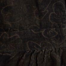 Mohazöld mikrokord ruha (68-74)