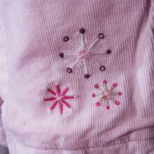 Rózsaszín mikrokord bélelt nadrág (68-74)
