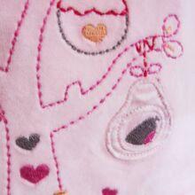 Rózsaszín plüssruha (62-68)