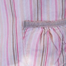 Rózsaszín csíkos mikrokord ruha (56-62)