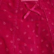 Élénk rózsaszín mikrokord ruha (62-68)