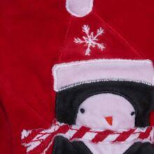 Piros karácsonyi plüss rugi (50-56)
