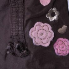 Barna virágos nadrág (56-62)