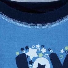 Kék feliratos felső (74-80)