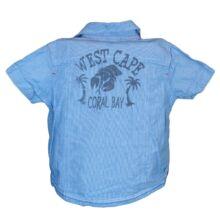 Kék hátán feliratos ing (80-86)