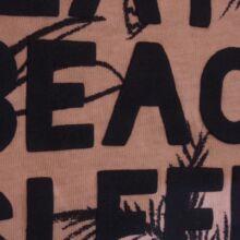 Barackszín pálmás póló (62-68)