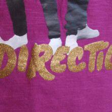 Lila One Direction felső (7-8 év)