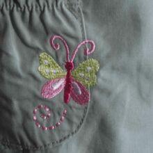 Halványzöld pillangós nadrág (62-68)
