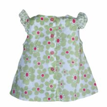 Zöld margarétás ruha (62-68)