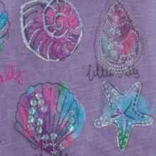 Csillámkagylós lila felső (1-2 év)