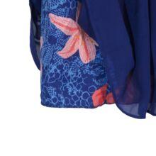 Lila virágmintás többrétegű szoknya ( 6 év)