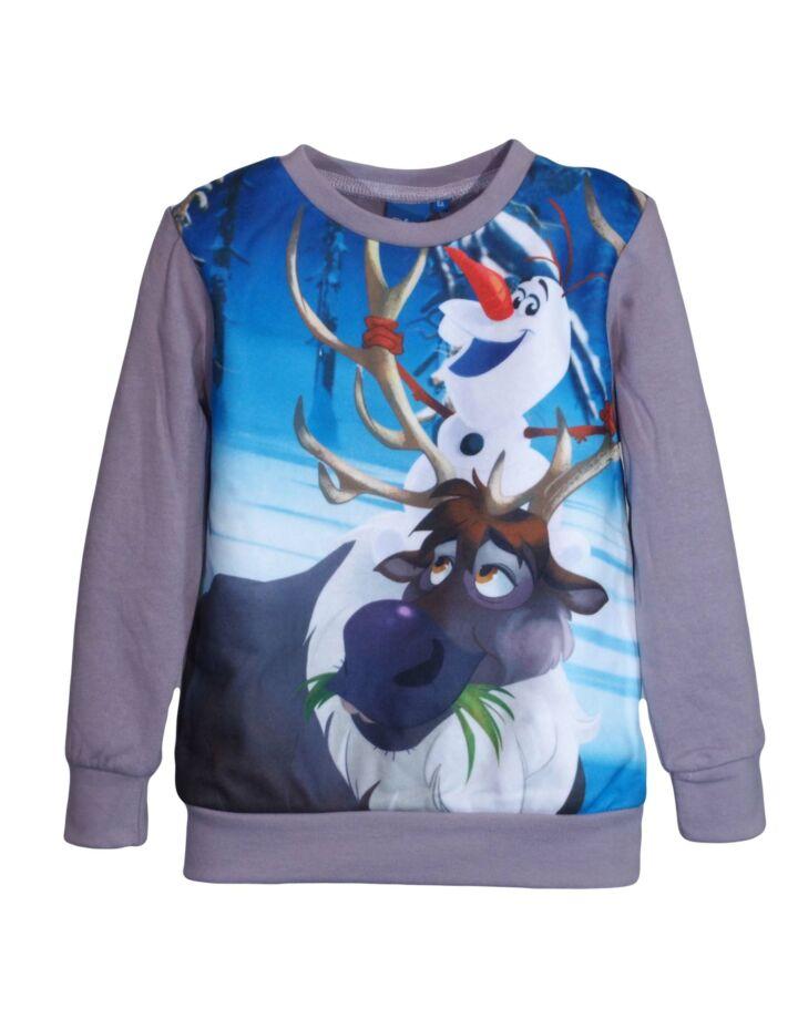 Szürke Olaf és rénszarvas pulóver