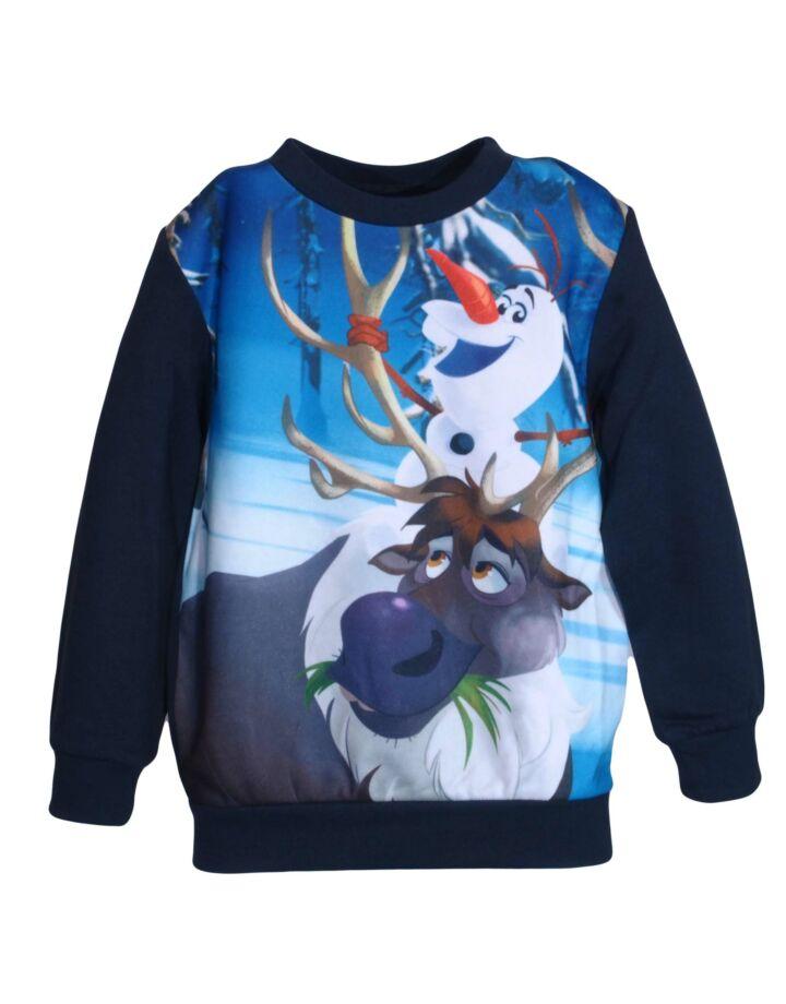 Fekete Olaf és rénszarvas pulóver
