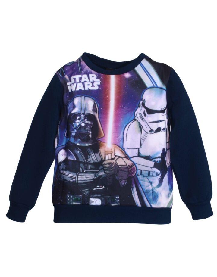 Sötétkék Star Wars pulóver