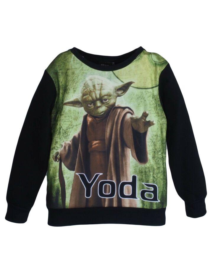 Fekete Yoda Star Wars pulóver