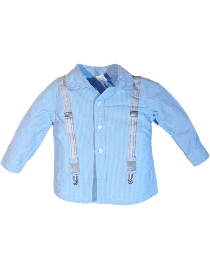 Kék pantallós ing (74-80)