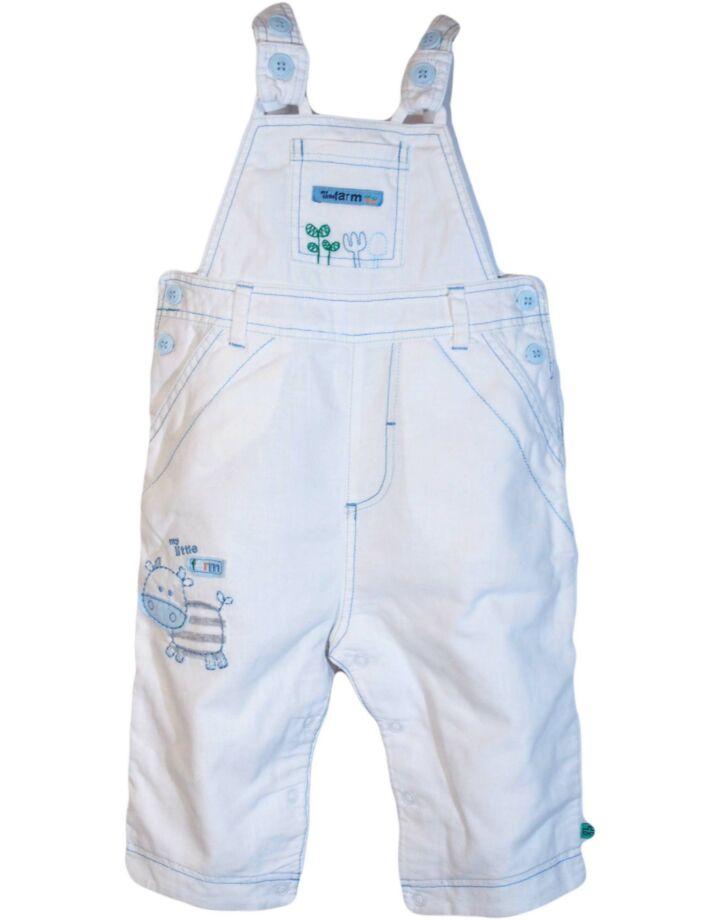 Fehér bocis kantáros nadrág (74-80)