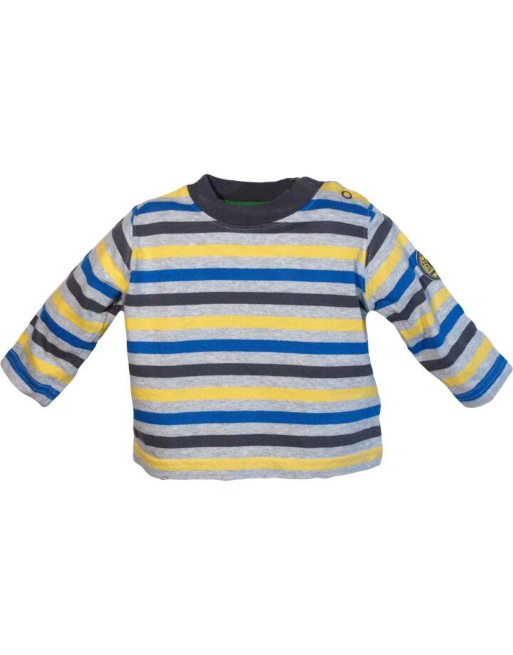 Kék sárga csíkos felső (62-68)