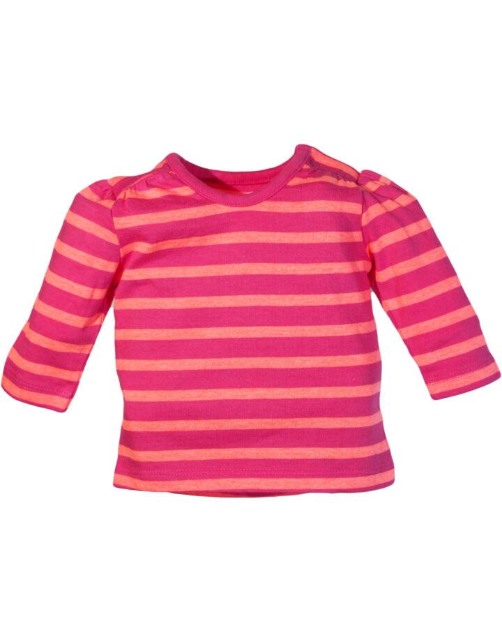 Sötét rózsaszín csíkos felső (56-62)