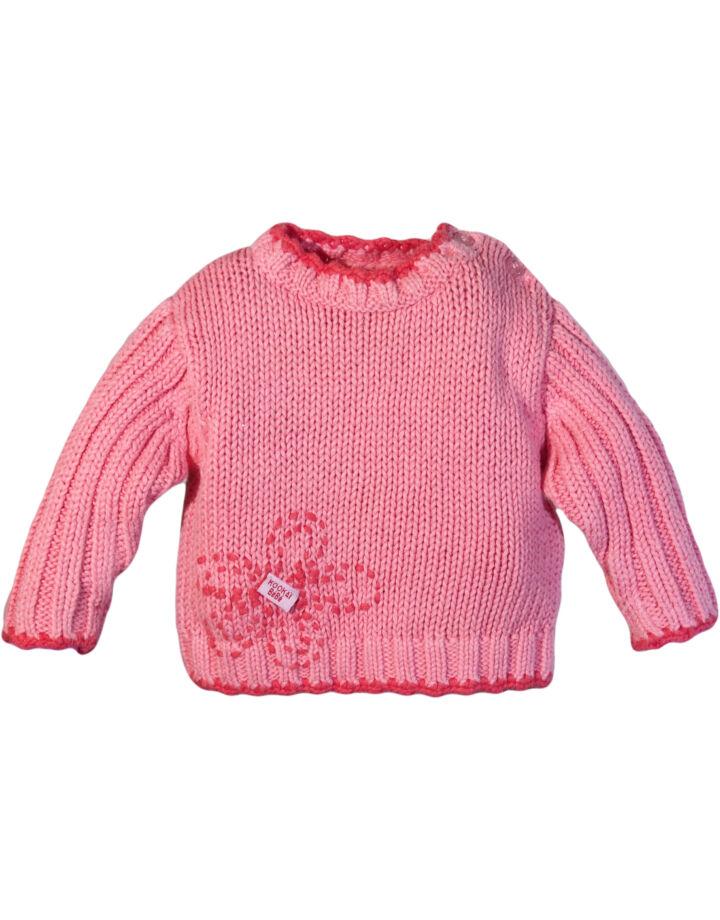 Sötét nararancs/rózsa pulóver (62-68)