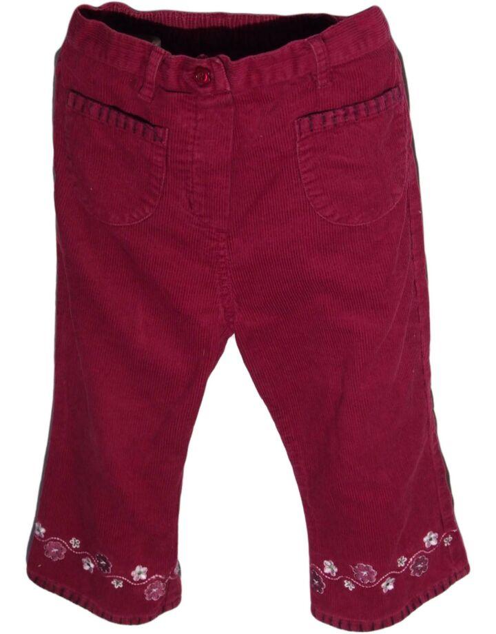 Bordó kord nadrág (86-92)