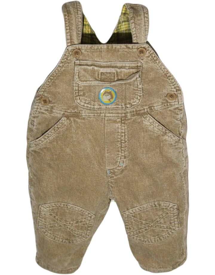 Barna kord kantáros nadrág (68-74)