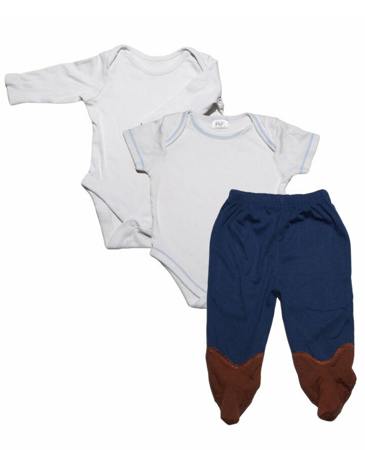 Fehér Body+nadrág szett (68-74)