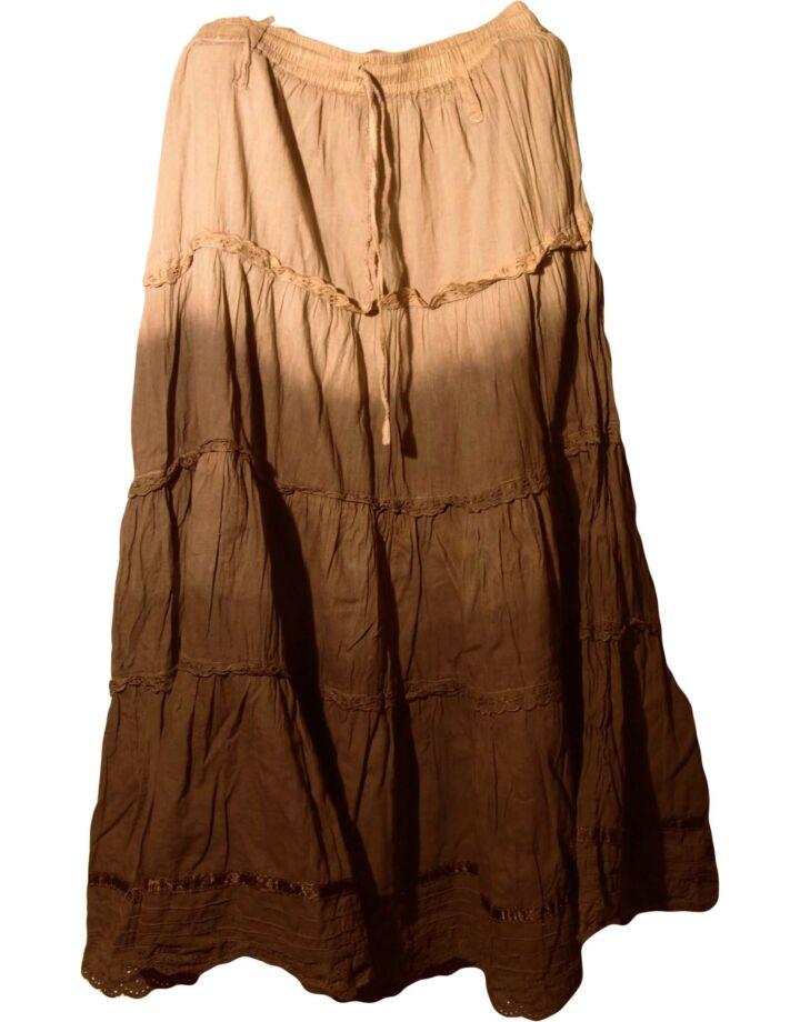 Színátmenetes barna hosszúszoknya (11-12 év)