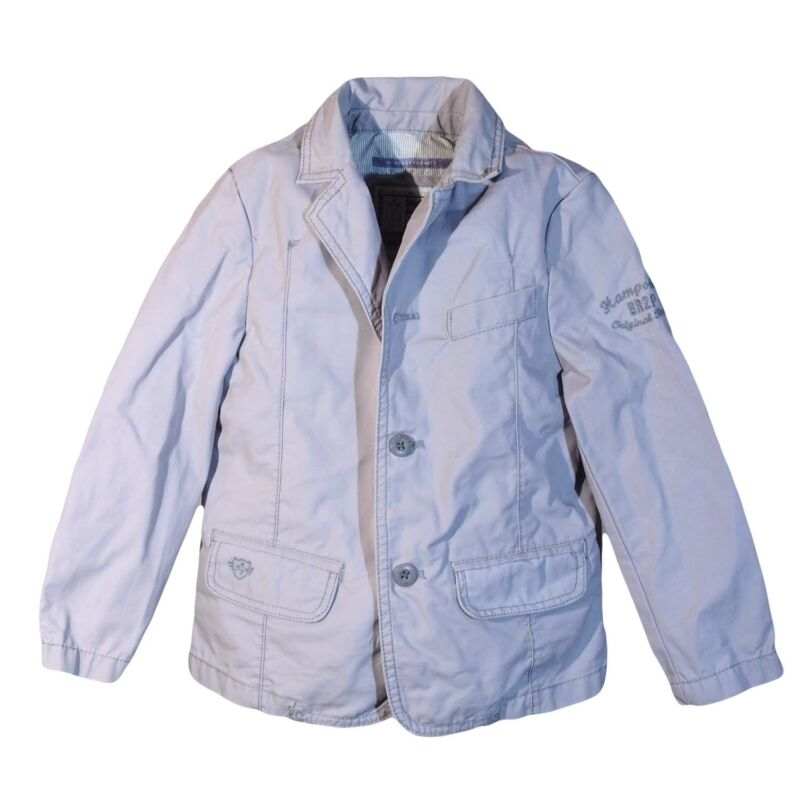 Halványszürke átmeneti kabát (7-8 év)