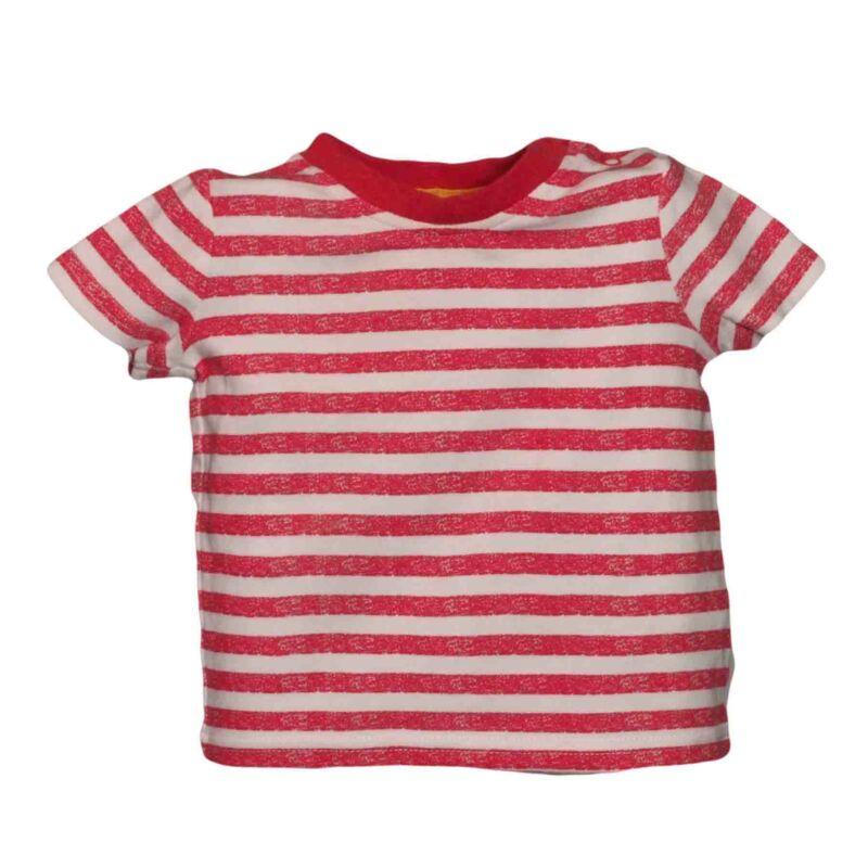 Piros csíkos póló (68-74)