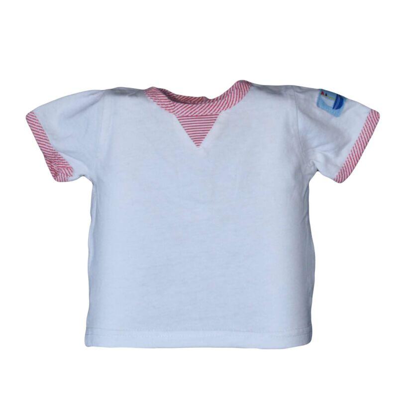 Fehér csíkos szegélyes póló (56-62)