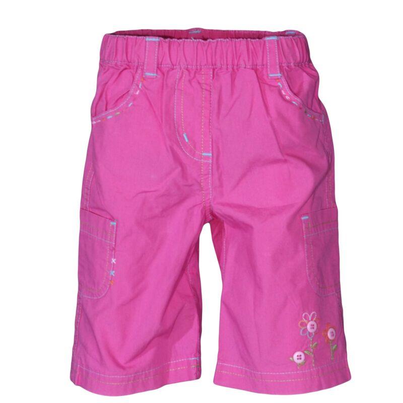 Rózsaszín hímzett virágos nadrág (56-62)