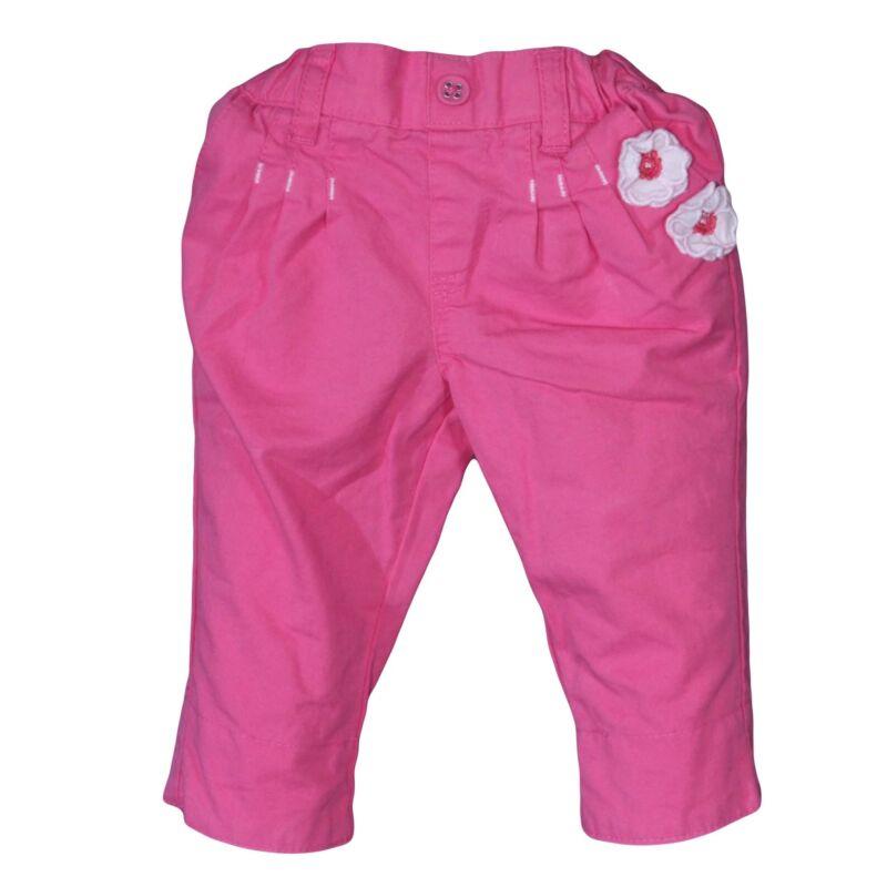Rózsaszín virágos nadrág (56-62)