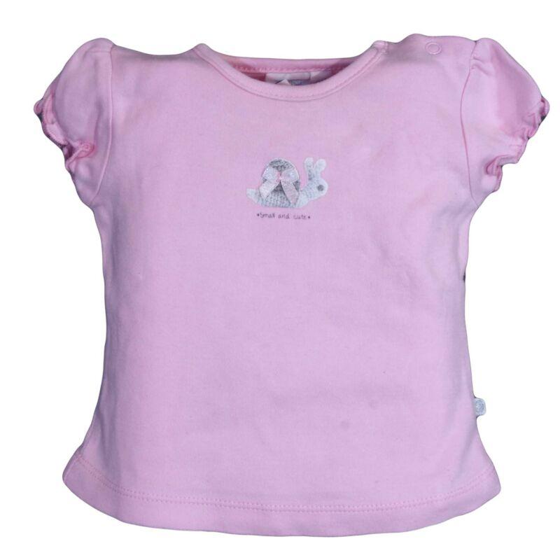 Rózsaszín virágos póló (62-68)