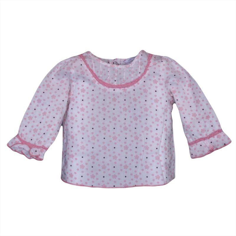Rózsaszín virágos ing (62-68)
